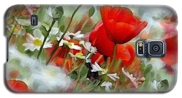 Poppies In The Field Galaxy S5 Case