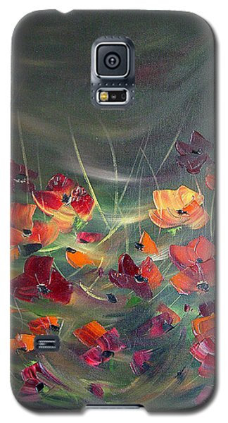 Galaxy S5 Case featuring the painting Poppies In The Shadow by Dorothy Maier