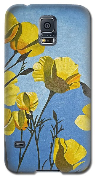 Galaxy S5 Case featuring the painting Poppies In The Sun by Donna Blossom