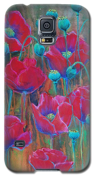 Galaxy S5 Case featuring the painting Poppies  by Jani Freimann