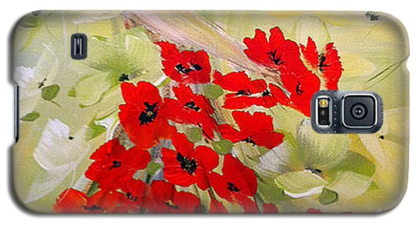 Galaxy S5 Case featuring the painting Poppies Lady by Dorothy Maier