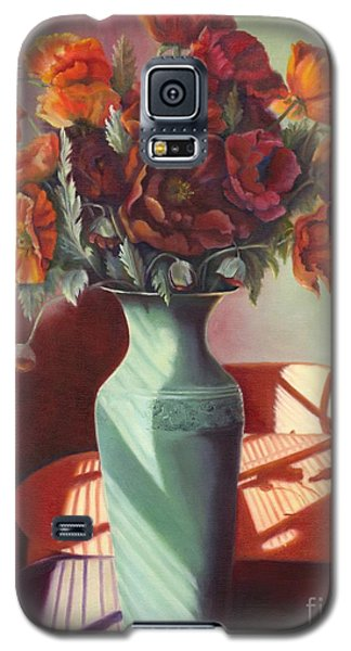 Galaxy S5 Case featuring the painting Poppies by Marlene Book