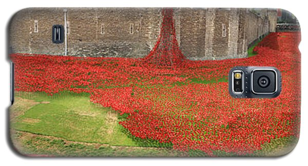 Poppies Tower Of London Collage Galaxy S5 Case