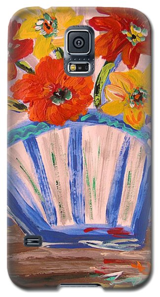 Galaxy S5 Case featuring the painting Popping by Mary Carol Williams