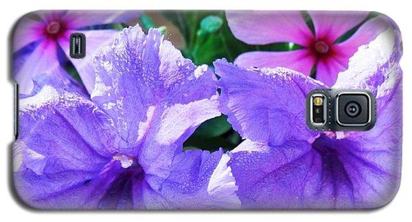 Popping Purple Petals Beauty Galaxy S5 Case