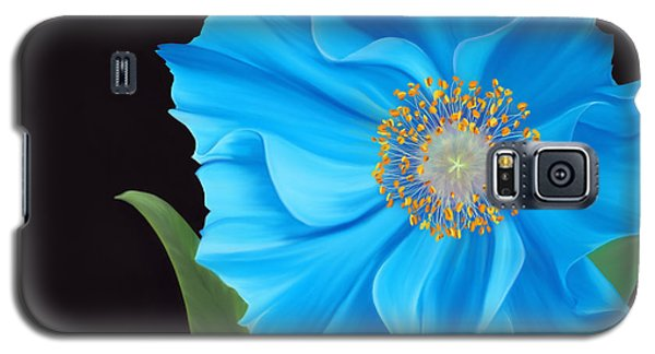 Galaxy S5 Case featuring the painting Poppy 2 by Laura Bell