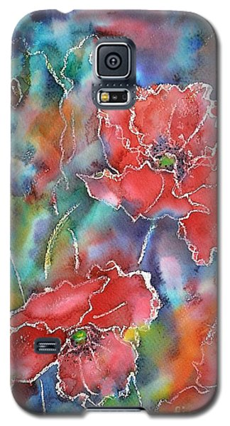 Poppy Abstract Galaxy S5 Case