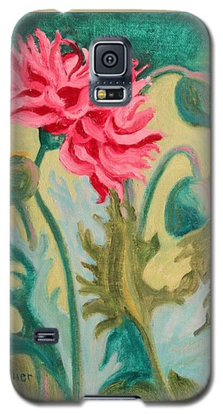Poppy Abstract Galaxy S5 Case