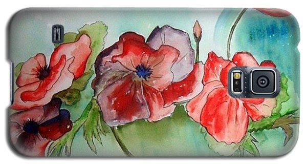 Poppy Bouquet Galaxy S5 Case by Iris Gelbart