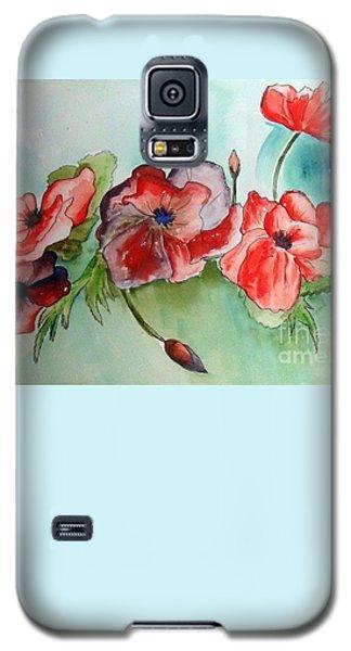 Poppy Bouquet Galaxy S5 Case
