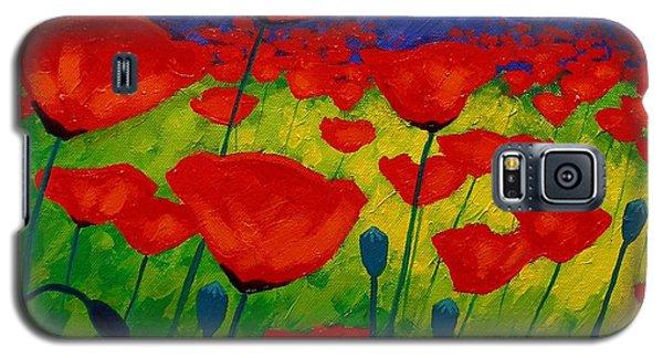 Card Galaxy S5 Case - Poppy Corner II by John  Nolan