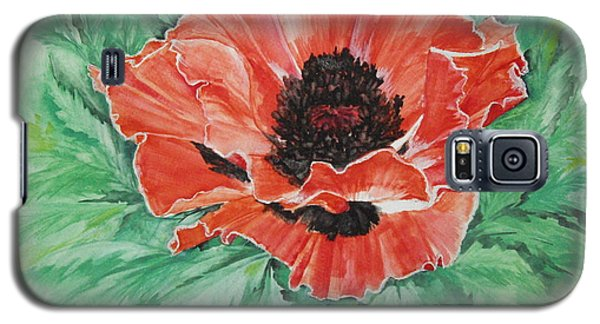 Galaxy S5 Case featuring the painting Poppy by Ellen Canfield