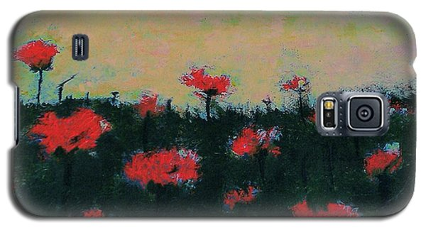 Galaxy S5 Case featuring the painting Poppy Field by Jacqueline McReynolds