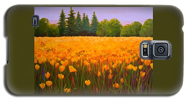 Poppy Fields Forever Galaxy S5 Case