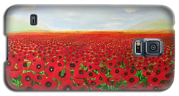 Poppy Fields Galaxy S5 Case