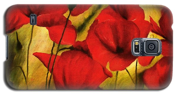 Poppy Flowers At Dusk Galaxy S5 Case