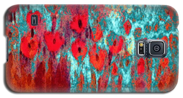 Galaxy S5 Case featuring the painting Poppy Passion by Holly Martinson