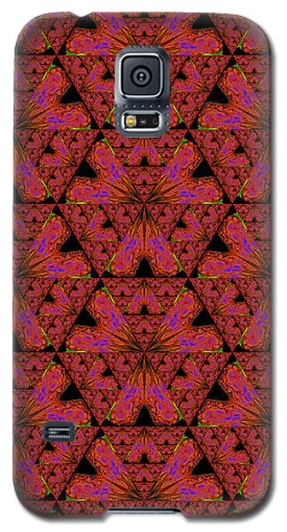 Poppy Sierpinski Triangle Fractal Galaxy S5 Case