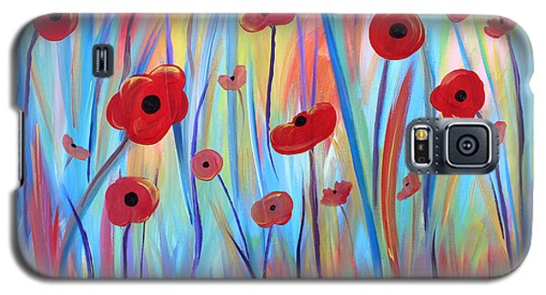 Galaxy S5 Case featuring the painting Poppy Symphony by Stacey Zimmerman