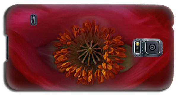 Poppy's Eye Galaxy S5 Case by Barbara St Jean