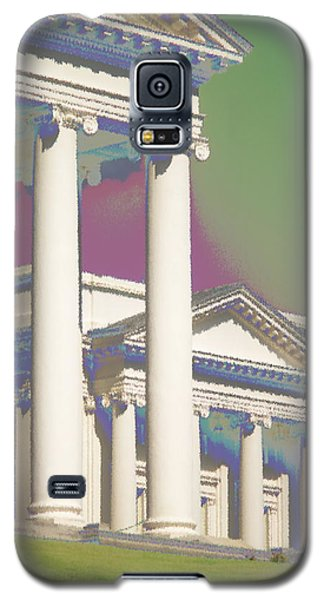Galaxy S5 Case featuring the photograph Porch Of State Capitol Richmond Va by Suzanne Powers