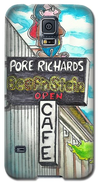 Galaxy S5 Case featuring the painting Pore Richards by The GYPSY And DEBBIE