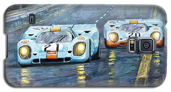Car Galaxy S5 Case - Porsche 917 K Gulf Spa Francorchamps 1971 by Yuriy Shevchuk