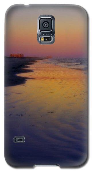 Galaxy S5 Case featuring the photograph Port Aransas Sunset by Ellen Heaverlo