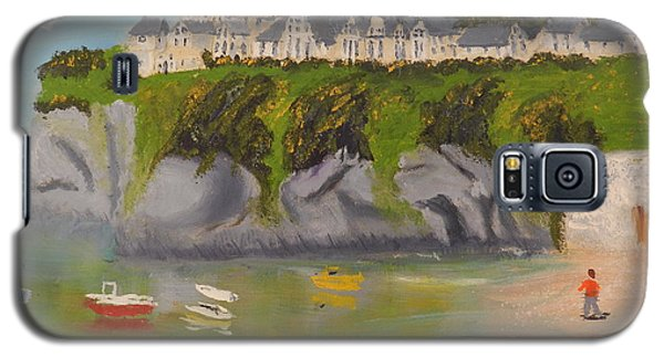 Galaxy S5 Case featuring the painting Port Asaac Cornwell by Pamela  Meredith