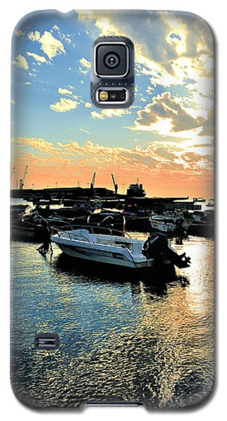 Galaxy S5 Case featuring the photograph Port At Sunset by Marwan Khoury