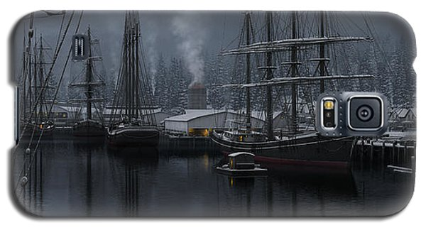 Galaxy S5 Case featuring the painting Winter's Warmth by Ron Crabb