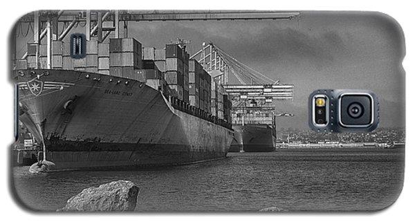 Port Of Long Beach Galaxy S5 Case by Joseph Hollingsworth