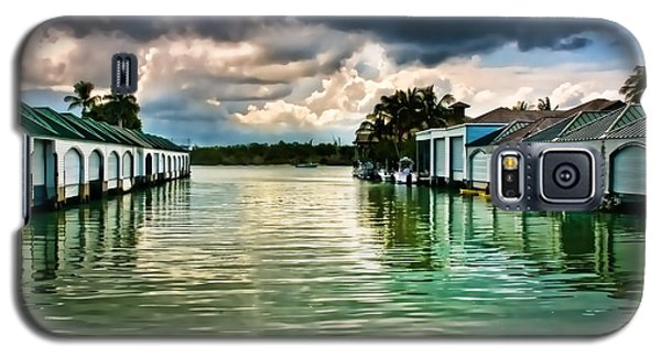 Storm Clouds Over  Port Royal Boathouses In Naples Galaxy S5 Case