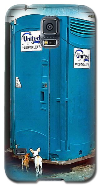 Galaxy S5 Case featuring the photograph Porta Puppy Potty... by Sadie Reneau