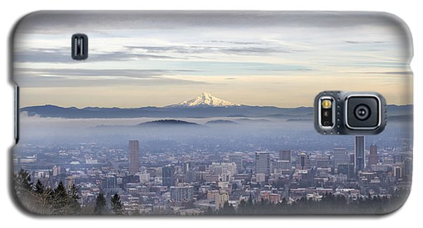 Portland Downtown Foggy Cityscape Galaxy S5 Case
