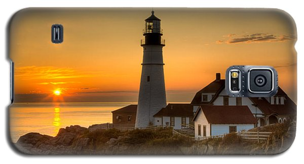 Portland Head Light At Sunrise II Galaxy S5 Case
