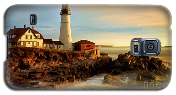 Portland Head Lighthouse At Dawn Galaxy S5 Case by Jerry Fornarotto