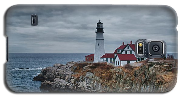 Galaxy S5 Case featuring the photograph Portland Headlight 14440 by Guy Whiteley