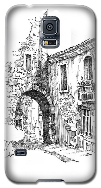 Galaxy S5 Case featuring the drawing Portmerion by Paul Davenport