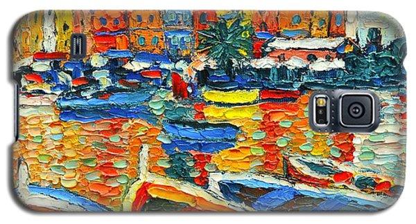 Portovenere Harbor - Italy - Ligurian Riviera - Colorful Boats And Reflections Galaxy S5 Case
