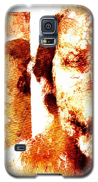 Galaxy S5 Case featuring the digital art Portrait And Mirror by Andrea Barbieri