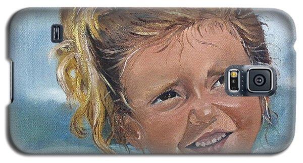 Portrait - Emma - Beach Galaxy S5 Case