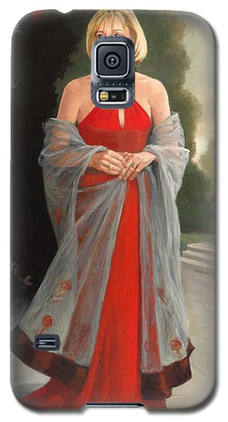 Portrait In Red Dress Galaxy S5 Case