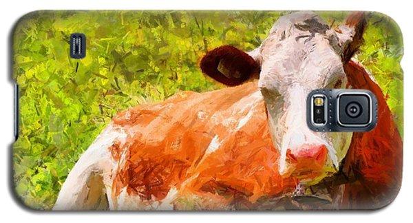 Portrait Of A Cow 2 Galaxy S5 Case by Kai Saarto