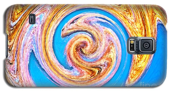 Galaxy S5 Case featuring the digital art Portrait Of A Dragon by Cristophers Dream Artistry