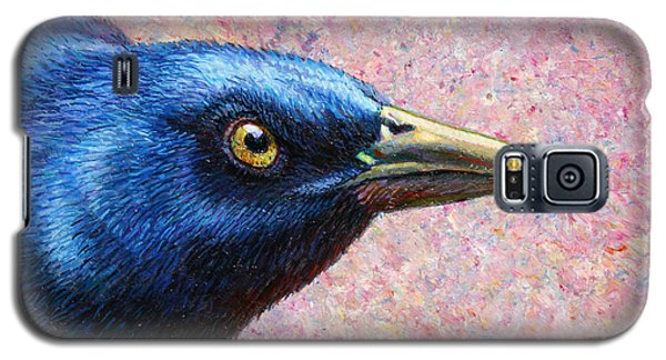 Raven Galaxy S5 Case - Portrait Of A Grackle by James W Johnson