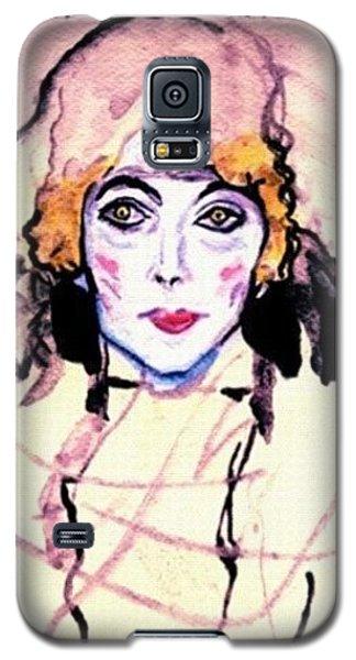 Galaxy S5 Case - Portrait Of A Lady En Face After Gustav Klimt by Anna Porter
