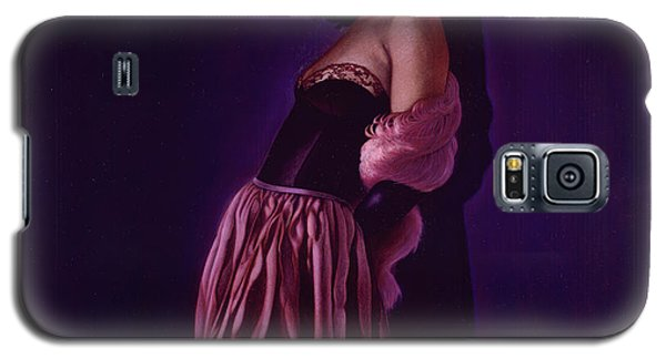 Portrait Of A Lady In Violet Galaxy S5 Case