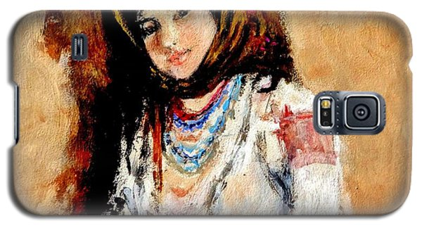 Portrait Of A Little Peasant Girl.. Galaxy S5 Case
