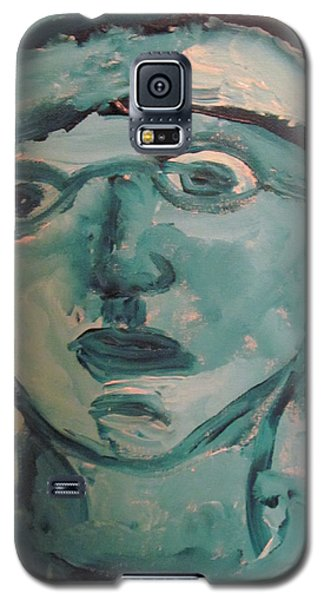Galaxy S5 Case featuring the painting Portrait Of A Man by Shea Holliman
